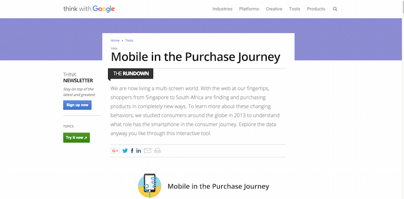 Mobile in the Purchase Journey – Think with Google