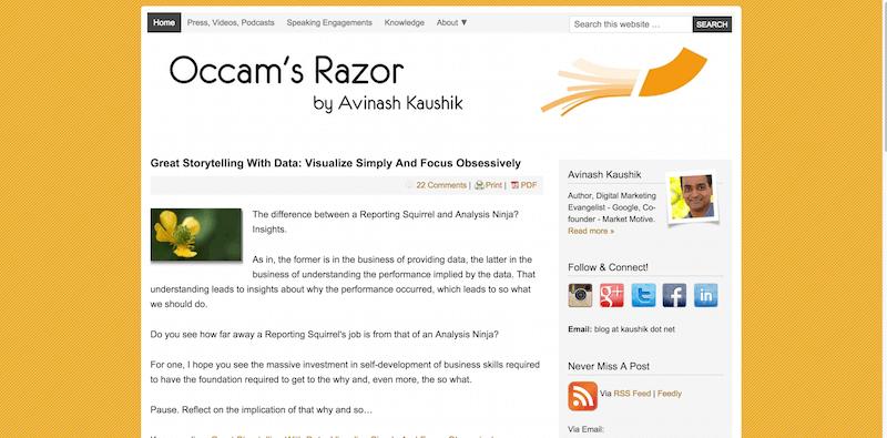 Occam s Razor by Avinash Kaushik   Digital Marketing and Analytics Blog