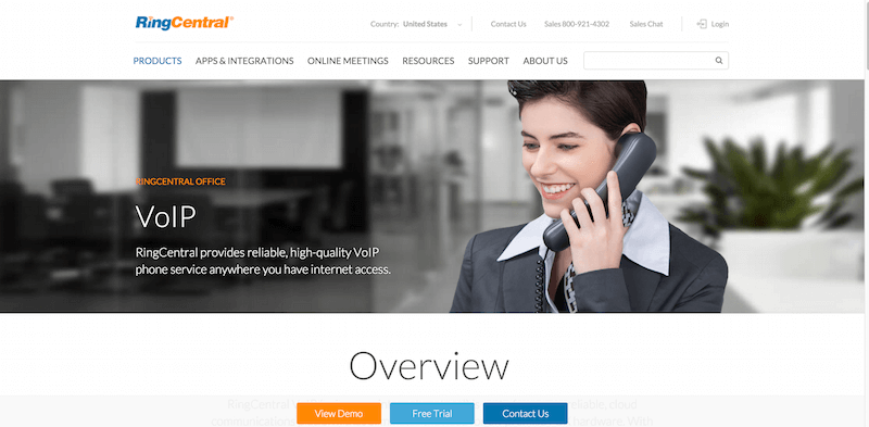 Secure VoIP for business RingCentral