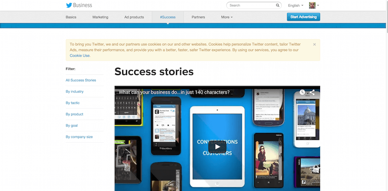Success stories Twitter for Business
