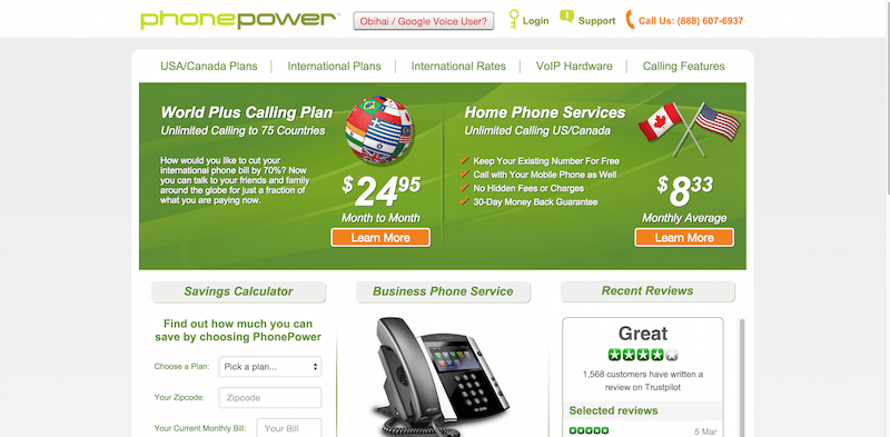 VoIP Provider Phone Power Home Business Services