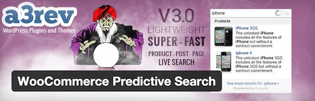 WooCommerce Predictive Search