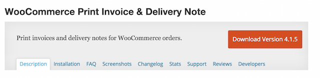 WooCommerce Print Invoice Delivery Note