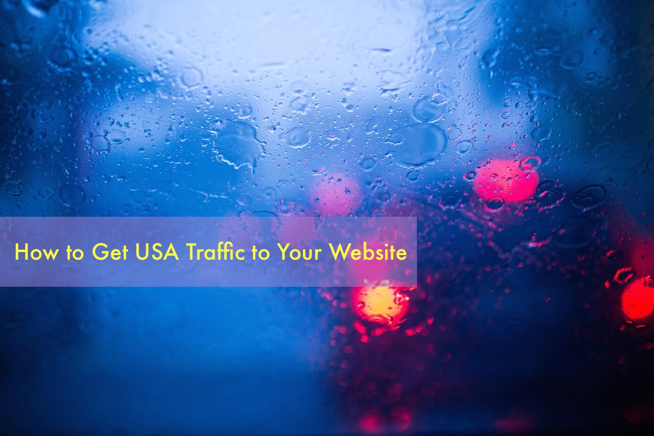 how to get usa traffic on website