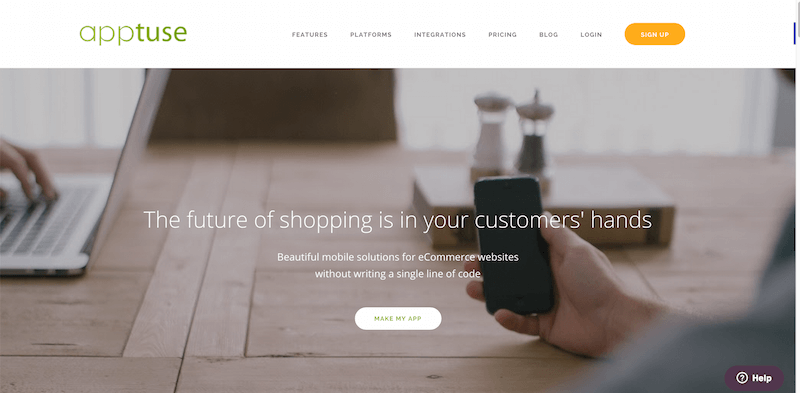 Apptuse   Instantly create iPhone and Android apps for your E commerce stores