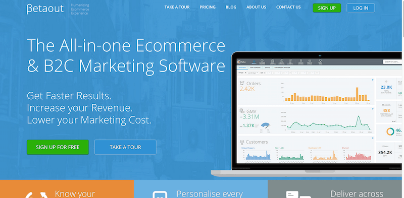 Betaout Marketing Personalisation Software and Engagement Platform