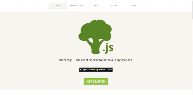 Broccoli.js   The asset pipeline for ambitious applications