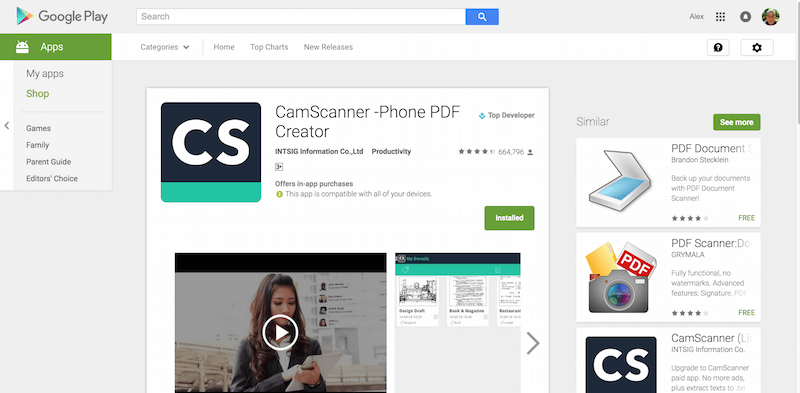 CamScanner Phone PDF Creator Android Apps on Google Play