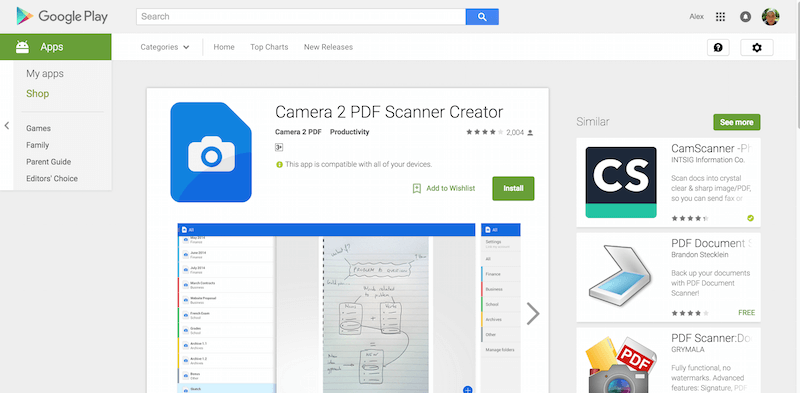 Camera 2 PDF Scanner Creator Android Apps on Google Play