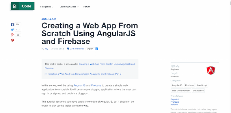 Creating a Web App From Scratch Using AngularJS and Firebase   Tuts  Code Tutorial