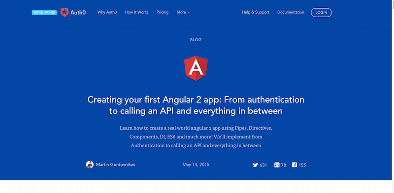 Creating your first Angular 2 app From authentication to calling an API and everything in between