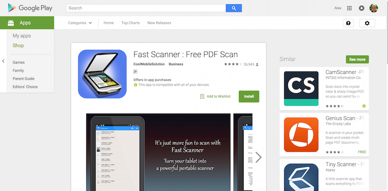 how to use fast scanner app