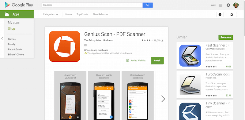 Genius Scan PDF Scanner Android Apps on Google Play