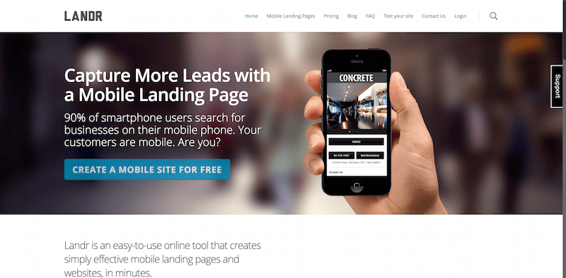 Landr – Simply Effective Mobile Websites.