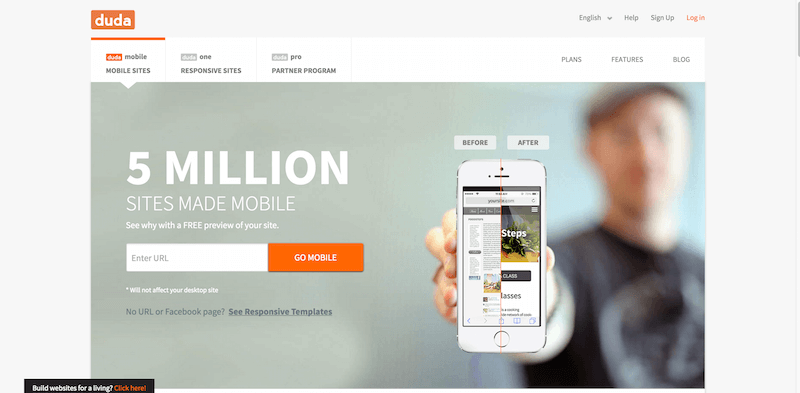 Make a Mobile Website for Free   DudaMobile