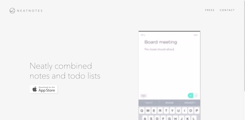 Neat Notes Notes and Todos in a seamless experience - Web