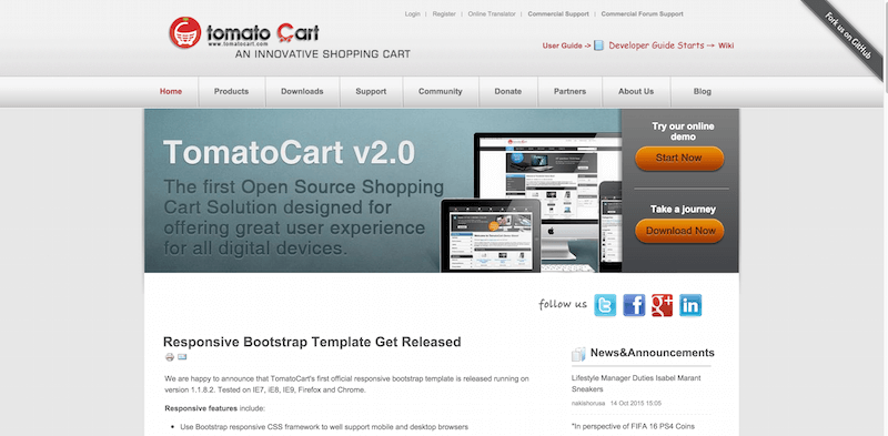 Open Source Shopping Cart Software   TomatoCart