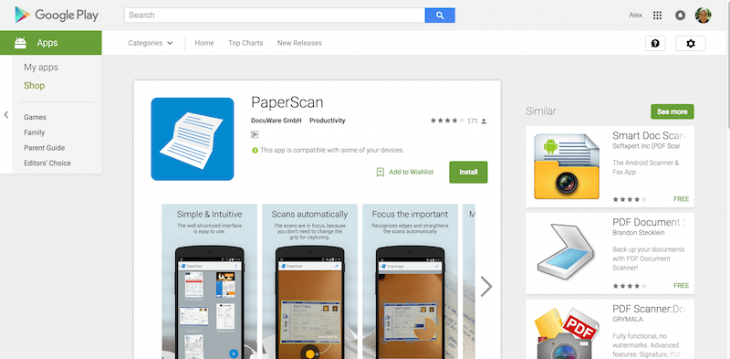 PaperScan Android Apps on Google Play