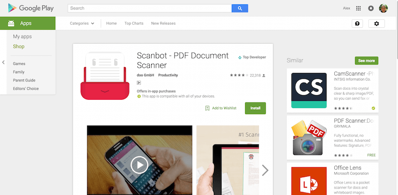 Scanbot PDF Document Scanner Android Apps on Google Play