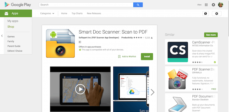 Smart Doc Scanner Scan to PDF Android Apps on Google Play