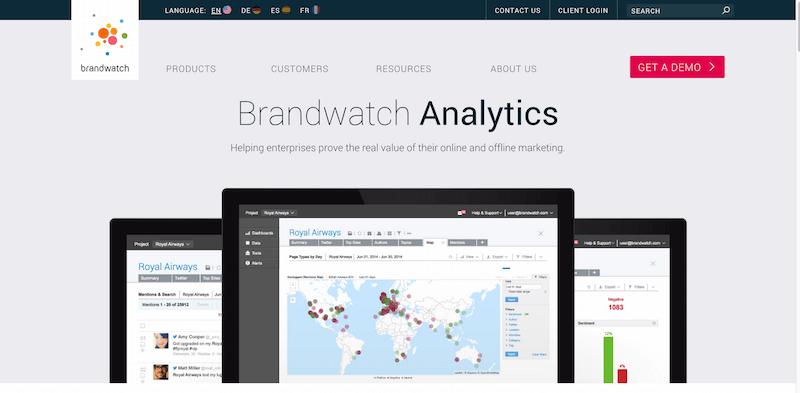 Social Media Listening and Analytics Platform Brandwatch