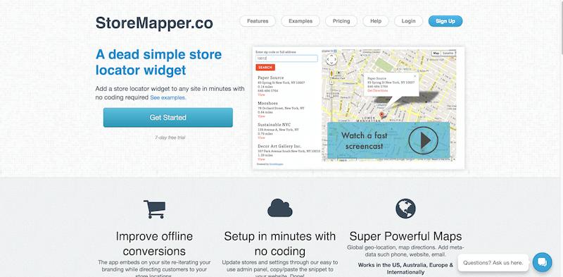 Store Locator App   Widget   Storemapper