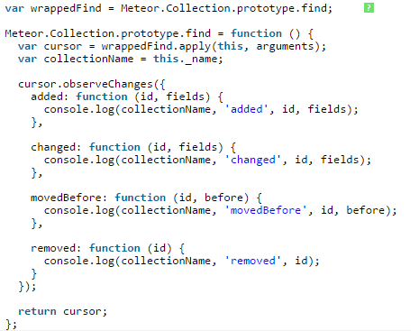 Track to Collection.find () statements, and check when it reruns.