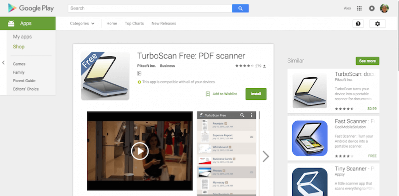 TurboScan Free PDF scanner Android Apps on Google Play