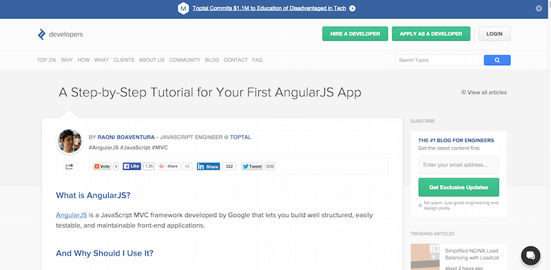 Your First AngularJS App  A Comprehensive Tutorial   Toptal