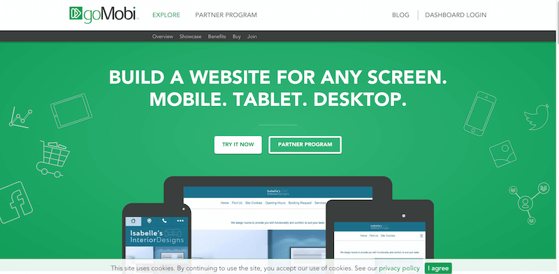 goMobi   Online Website Builder   Mobile  Tablet  Desktop