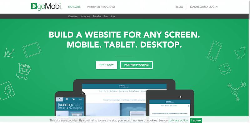 goMobi   Online Website Builder   Mobile  Tablet  Desktop