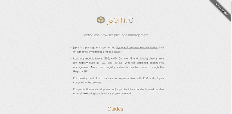 jspm.io   Frictionless Browser Package Management