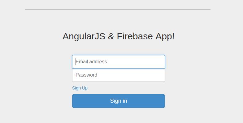 angularjs and firebase app