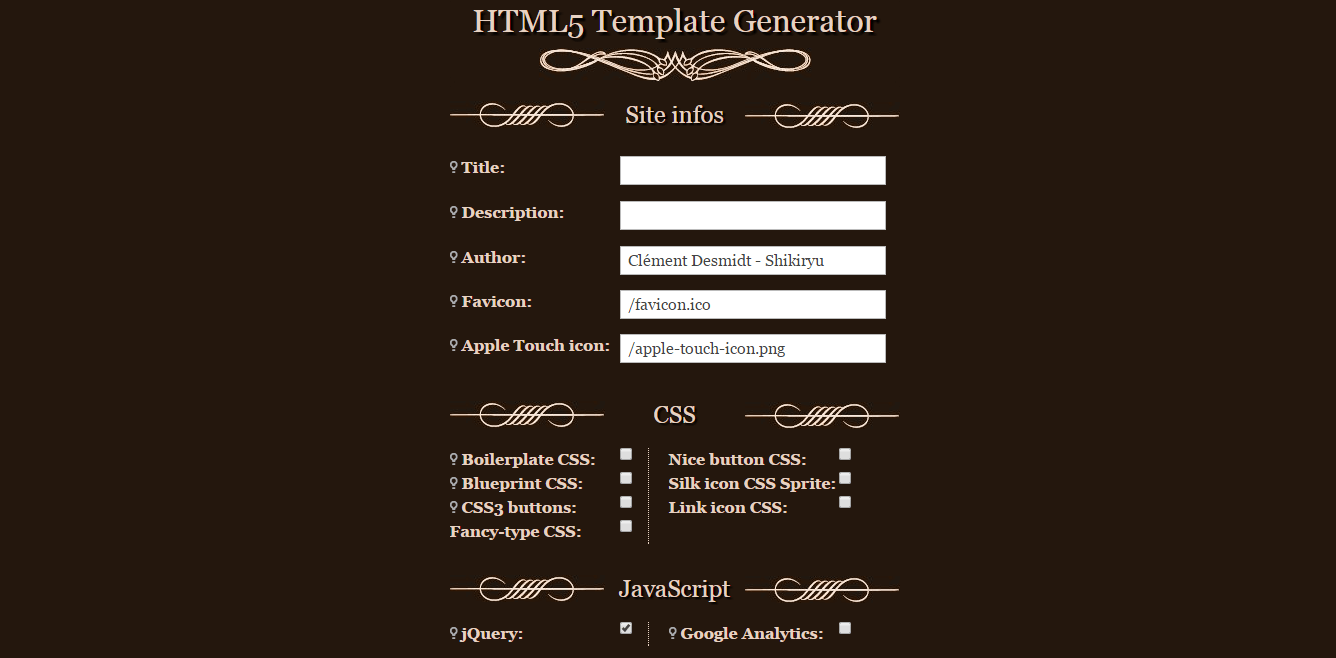 Html5 and css3 code generators for web programmers shikiryu html5 generator allows you to add mediators for applications that people love to use you can add features and can do modifications inside a malvernweather Image collections