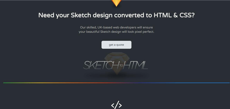 sketchtohtml