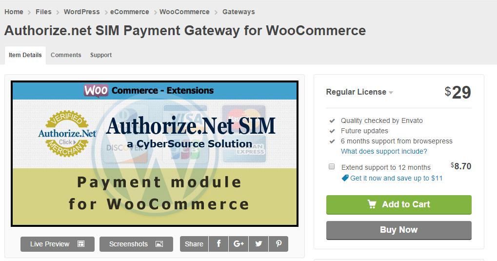 Authorize.net SIM Payment