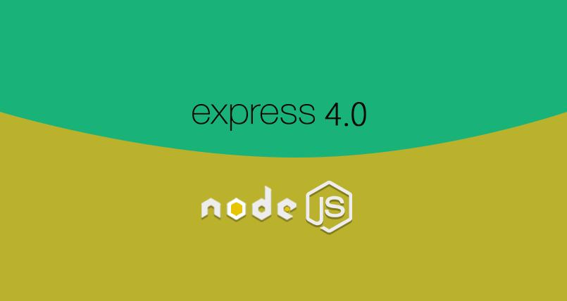 Expressjs 4.0 High Class Framework For Node 805X428