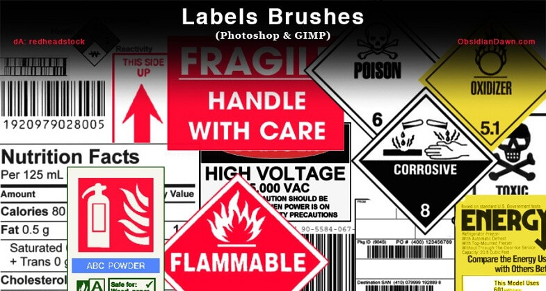Label brushes