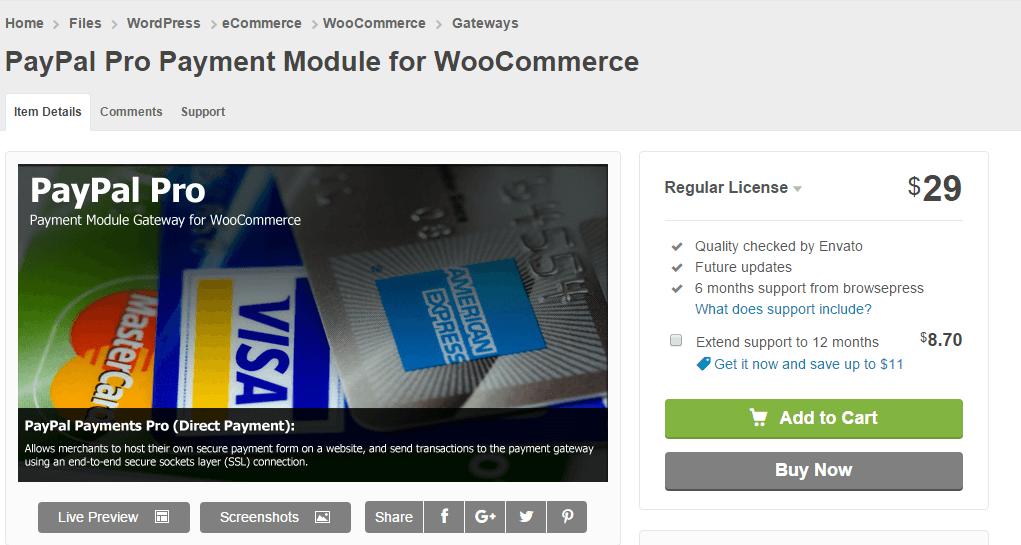 PayPal Pro Payment Module