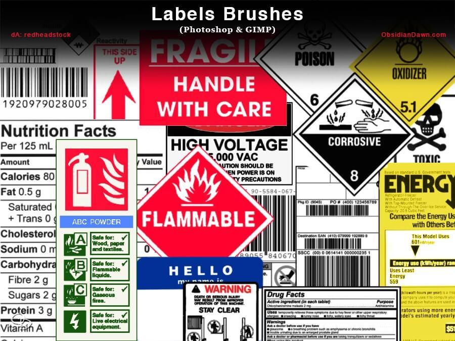 label brush