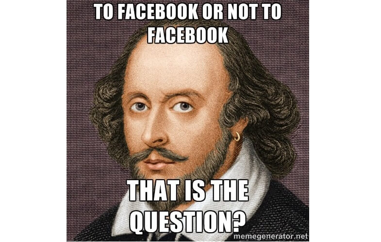to facebook or not