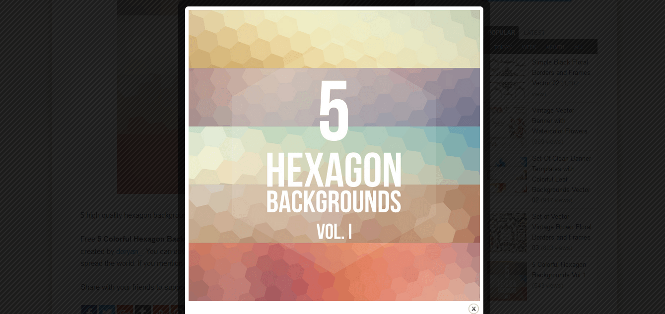5 hexagon bg