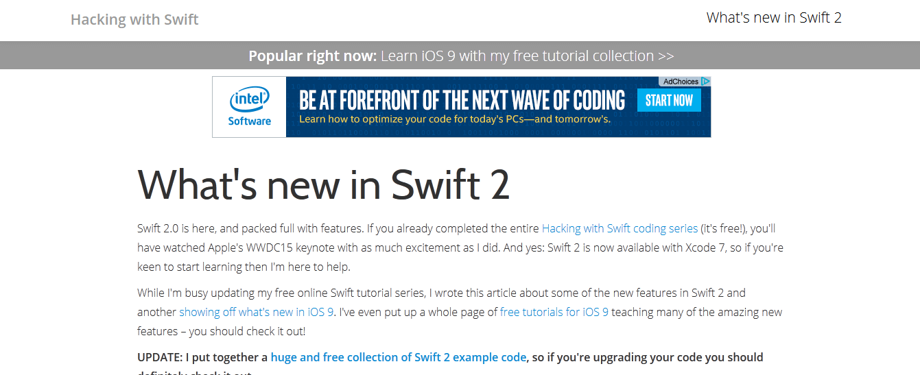 Hacking With Swift