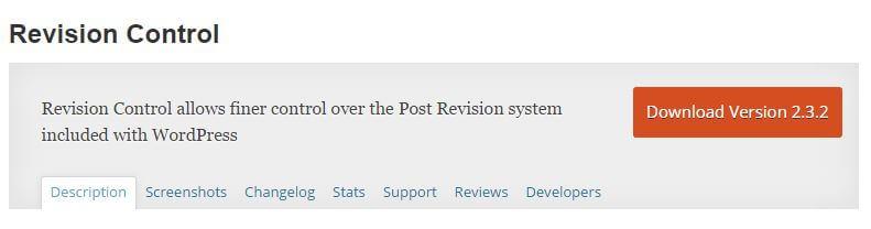 control post revisions