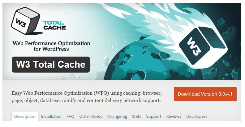 install a caching plugin