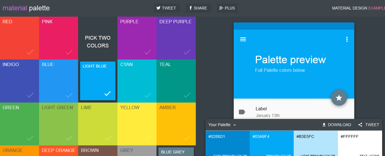 10 material design color palette generators