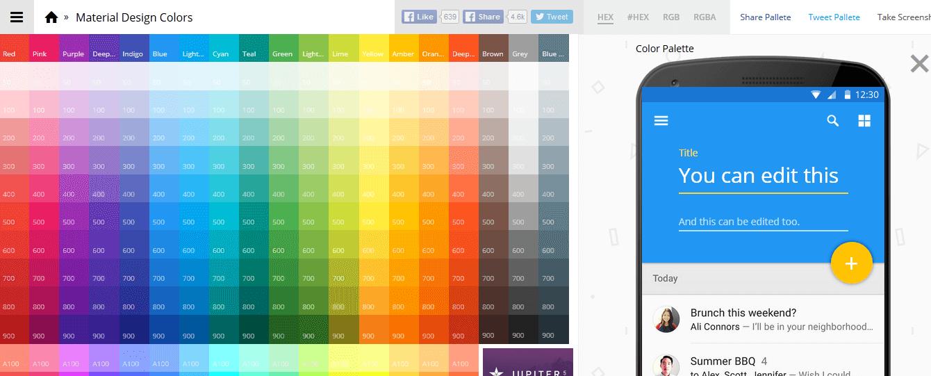 10 Material Design Color Palette Generators