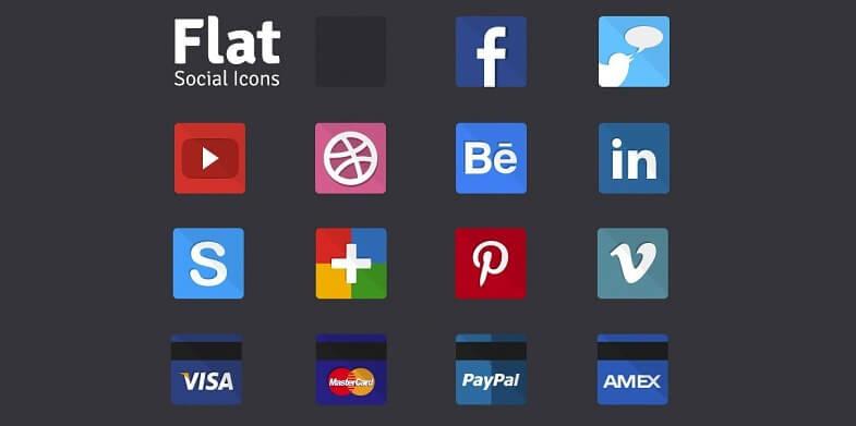 Thiago Marques's Flat Social Icons
