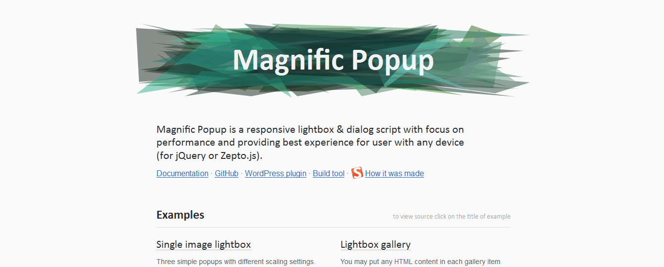 magnify popup