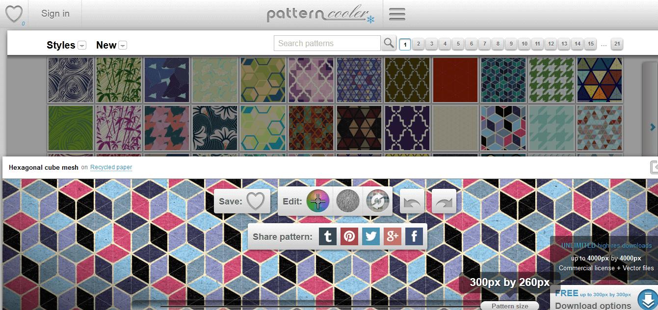pattern cooler